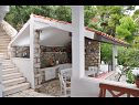 Holiday home H(6+2) Prizba - Island Korcula  - Croatia - H(6+2): summer kitchen