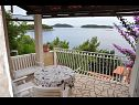 Holiday home H(6+2) Prizba - Island Korcula  - Croatia - H(6+2): terrace