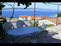 Apartments Nada A1(4+1) Baska Voda - Riviera Makarska  - Apartment - A1(4+1): terrace