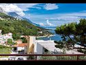 Apartments RB Ivana (6+2), Margarita (6+2) Brela - Riviera Makarska  - Apartment - Ivana (6+2): terrace view (house and surroundings)